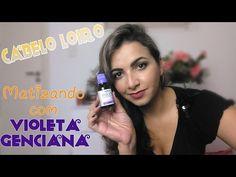Matizando o Cabelo Loiro com Violeta Genciana 1% - YouTube