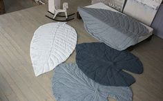 Leaf Rugs that could be easy, simple quilts, via BB-Blog