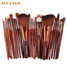MAANGE  Professional  New 22pcs Cosmetic Makeup Brush Blusher Eye Shadow Brushes Set Kit Pinceis de maquiagem  2017July15 #Affiliate