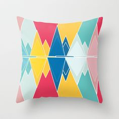 Tringles In Colour Throw Pillow by Neri Han - $20.00