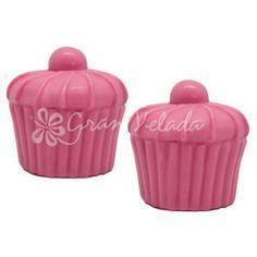 Molde para hacer jabón 2 Cupcakes con Guinda