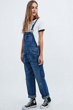"Levi's Vintage Clothing – Jeans-Latzhose ""Bib and Brace"" in Blau"