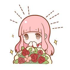 Manga Cute, Cute Anime Chibi, Kawaii Chibi, Kawaii Cute, Kawaii Anime Girl, Manga Anime, Anime Art, Kawaii Stickers, Cute Stickers