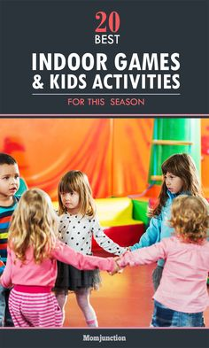 21 Fun Indoor Games for Kids Aged 3 to 12 Years Are you looking for the best indoor games to play with kids? You have come to the right place. Here is the list of 20 fun indoor games for kids of all ages. Games For Little Kids, Funny Games For Kids, Games For Kids Classroom, Games To Play With Kids, Group Games For Kids, Kindergarten Games, Preschool Games, Fun Games, Preschool Ideas