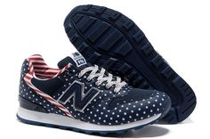 WR996FN - Womens New Balance - Stars And Stripes Blue Red Shoe