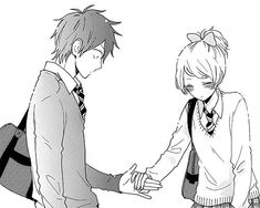 manga couple holding hands - Google Search