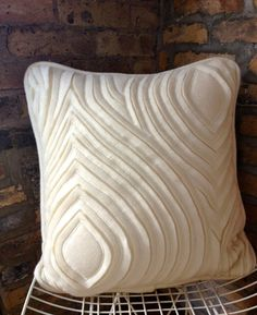 Logan Square, Chicago, IL, USA : Hand Cut Wool Pillow (Fabric Manipulation) ~ Krrb