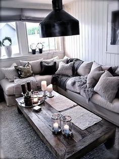 I like this rustic coffee table - would look great in our cabin. VL
