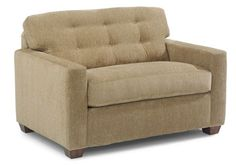Flexsteel Furniture: Sleepers: EastlandTwin Sleeper (5590-41) - custom fabric and legs