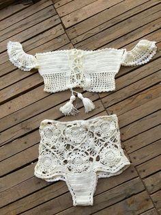 Ganchillo Bikini Top Festival verano Bikini. por byrosali en Etsy