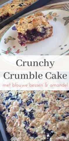 Crunchy crumble cake met blauwe bessen recept zelf maken gemakkelijk snel gebak met fruit makkelijk Food Blogs, Cereal, Breakfast, Desserts, Health, Fruit, Morning Coffee, Tailgate Desserts, Deserts