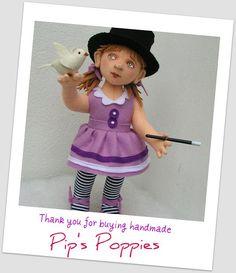 Pip's poppies: Making a felt doll part 1