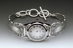 vintage spoon watch made from antique silverware handles