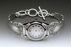 Silver Spoon Jewelry ® : Vintage Spoon and Fork Demitasse Jewelry: Lady Helen Spoon Watch