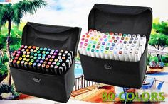 Set of 80 colors Touch Five Art Sketch Markers Twin Marker Broad Fine Point #TOUCHFIVE