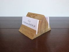 Business Card Holder Personalized Organizer Wooden Cards Display Warm White