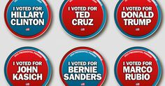 Support your candidate with Michigan primary buttons!: Support your candidate with Michigan primary buttons!