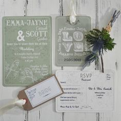 perching birds wedding stationery range by papergrace | notonthehighstreet.com