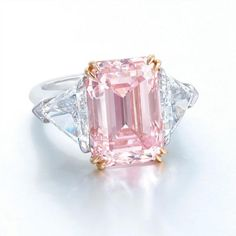 Pink diamond ring 9.07 Carats