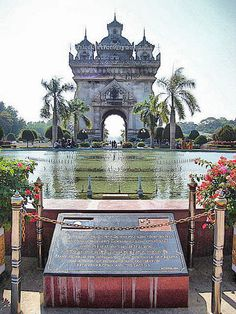 Patuxai Monument, Vientiane, Laos Oh the places I've been...to Lao. Not actually here ;)