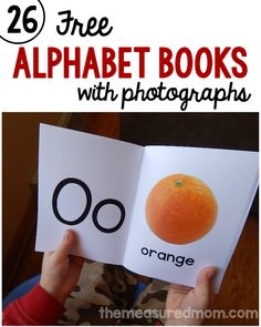 Simple alphabet books for babies, toddlers, and preschoolers
