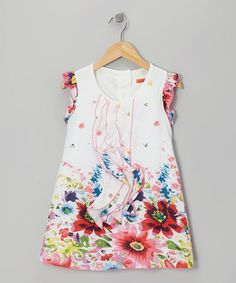 Take a look at this White & Pink Floral Ruffle Dress - Toddler & Girls by Funkyberry on #zulily today!