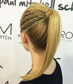 Braided Ponytail Ideas: 40 Cute Ponytails with Braids, HAİR STYLE, 30 Fantastic French Braid Ponytails. High Ponytail Braid, Cute Ponytails, High Ponytails, Hair Ponytail, Box Braid, Lace Braid, Pony Hairstyles, Braided Ponytail Hairstyles, Straight Hairstyles
