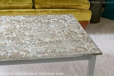 Stenciled and Painted Coffee Table | Royal Design Studio