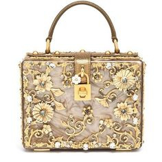 Dolce & Gabbana Filigree Plexiglass Top-Handle Bag