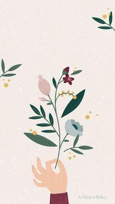 new Ideas flowers illustration pattern graphics wallpapers Art And Illustration, Flowers Illustration, Floral Illustrations, Botanical Illustration, Pattern Illustration, Fashion Illustrations, Art Floral, Floral Flowers, Flower Graphic