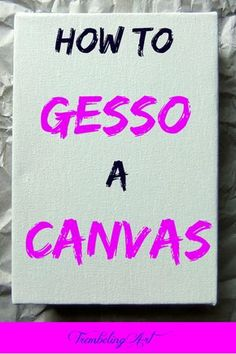 Applying gesso to your canvas seems like a lot of work, but it is worth the effort to prevent the frustration of your paint not sticking or flowing the way you want. Here are some hints to apply gesso to your artist canvas. Acrylic Painting For Beginners, Acrylic Painting Lessons, Acrylic Painting Techniques, Beginner Painting, Art Techniques, Diy Canvas Art, Artist Canvas, Artist Art, Canvas Ideas