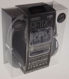 Sentry Retro Stereo Buds & Headphones Gray Earbuds Mic In Line HC400 For iPhone