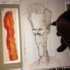Sketching bacon.