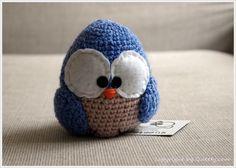 Amigurimi Crochet Queety Bird von Queety auf DaWanda.com