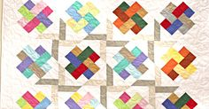 Using Solid Strips, You Can Make This Dazzling Woven Scrappy Quilt!