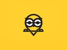 Dribbble - Owl Rebound by Adam Pugsley