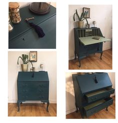 Diy Furniture Decor, Chalk Paint Furniture, Recycled Furniture, Furniture Projects, Furniture Making, Furniture Makeover, Vintage Furniture, Dresser As Nightstand, House Rooms