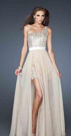 Cute Natural Chiffon A-Line Sleeveless Long Prom Dresses Sale kaladress11643