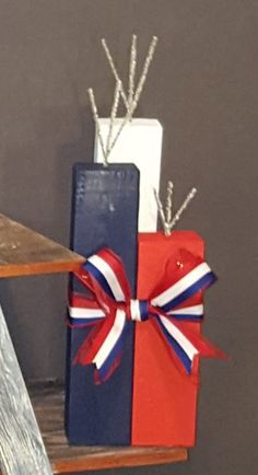 Red, White and Blue Wooden Firecrackers | The Rustic Chick Boutique