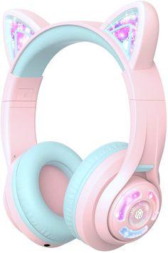 Gaming Headphones, Headphones With Microphone, Headphone With Mic, Best Running Headphones, Baby Furniture Sets, Kids Tv, Wireless Headset, Light Up, Pink