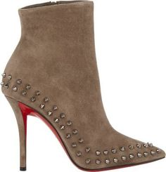 $1,595, Willetta Ankle Boots by Christian Louboutin. Sold by Barneys New York. Click for more info: http://lookastic.com/women/shop_items/117863/redirect