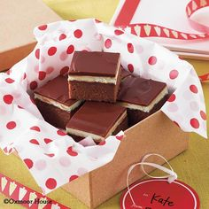 Gooseberry Patch Recipes: Double Chocolate Mint Brownies from Best-Loved Baking Recipes. Rich and chocolatey with a yummy layer of mint!