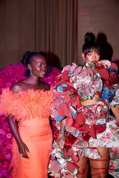 "celebsofcolor: ""Lupita Nyong'o and Rihanna attend the 'Rei Kawakubo/Comme des Garcons: Art Of The In-Between' Costume Institute Gala at Metropolitan Museum of Art on May 1, 2017 in New York..."