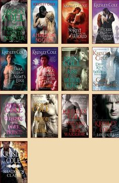 Immortals After Dark series by: Kresley Cole      Loved this series! Reading order at http://paranormalromancereads.com