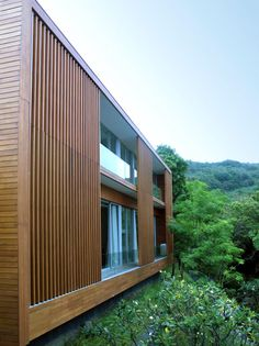 Facade: Villa Mayavee by Tierra Design Wooden Architecture, Beautiful Architecture, Residential Architecture, Architecture Details, Interior Architecture, Installation Architecture, Pavilion Architecture, Building Architecture, Chinese Architecture