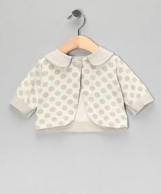 Take a look at this Crème Brûlée Bamboo Matinée Jacket by Nanny Pickle on #zulily today!