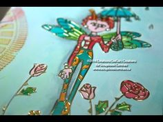 "▶ journal d'artiste ""april showers bring may flowers"" art journaling - YouTube"