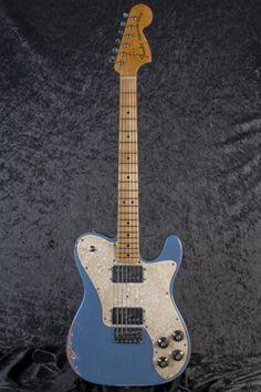 Fender Electric Guitar, Fender Guitars, Fender Thinline, Lake Placid Blue, Fender Custom Shop, Nice Things, Badass, Audio, Girls