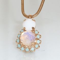 Hey, I found this really awesome Etsy listing at https://www.etsy.com/listing/154612686/white-opal-necklace-bridel-necklace
