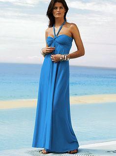 Halter Maxi Bra Top Dress